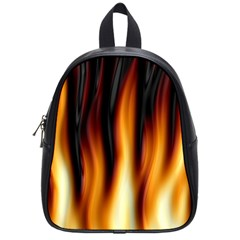 Dark Flame Pattern School Bags (small)  by Nexatart