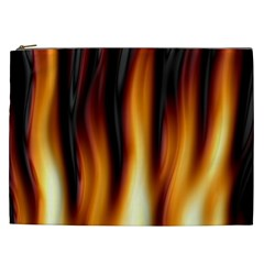 Dark Flame Pattern Cosmetic Bag (xxl)  by Nexatart