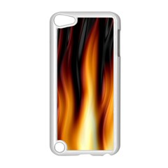 Dark Flame Pattern Apple Ipod Touch 5 Case (white) by Nexatart
