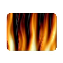 Dark Flame Pattern Double Sided Flano Blanket (mini)  by Nexatart