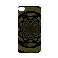 Dark Portal Fractal Esque Background Apple Iphone 4 Case (white) by Nexatart