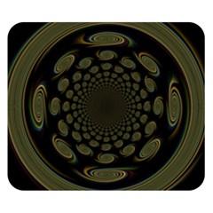 Dark Portal Fractal Esque Background Double Sided Flano Blanket (small)