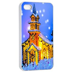 Winter Church Apple Iphone 4/4s Seamless Case (white) by Nexatart