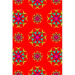 Rainbow Colors Geometric Circles Seamless Pattern On Red Background 5 5  X 8 5  Notebooks by Nexatart