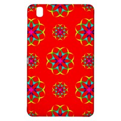 Rainbow Colors Geometric Circles Seamless Pattern On Red Background Samsung Galaxy Tab Pro 8 4 Hardshell Case by Nexatart