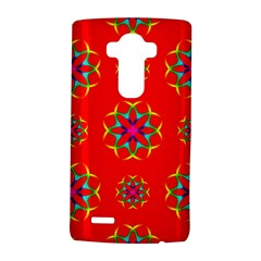 Rainbow Colors Geometric Circles Seamless Pattern On Red Background Lg G4 Hardshell Case by Nexatart
