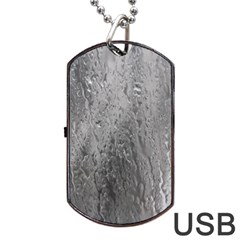 Water Drops Dog Tag Usb Flash (one Side) by Nexatart