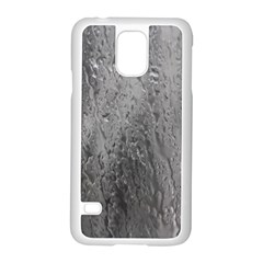 Water Drops Samsung Galaxy S5 Case (white) by Nexatart
