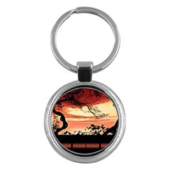 Autumn Song Autumn Spreading Its Wings All Around Key Chains (round)  by Nexatart