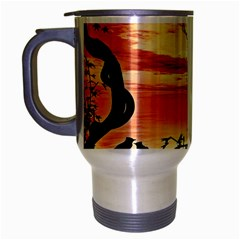 Autumn Song Autumn Spreading Its Wings All Around Travel Mug (silver Gray) by Nexatart