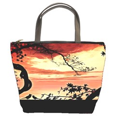 Autumn Song Autumn Spreading Its Wings All Around Bucket Bags by Nexatart
