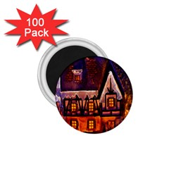 House In Winter Decoration 1 75  Magnets (100 Pack)  by Nexatart
