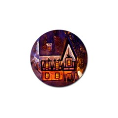 House In Winter Decoration Golf Ball Marker (10 Pack) by Nexatart
