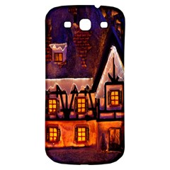 House In Winter Decoration Samsung Galaxy S3 S Iii Classic Hardshell Back Case by Nexatart