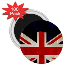 Flag Of Britain Grunge Union Jack Flag Background 2 25  Magnets (100 Pack)  by Nexatart