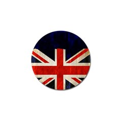 Flag Of Britain Grunge Union Jack Flag Background Golf Ball Marker