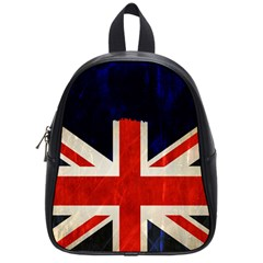 Flag Of Britain Grunge Union Jack Flag Background School Bags (small)  by Nexatart
