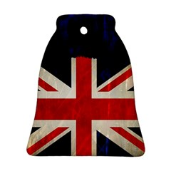 Flag Of Britain Grunge Union Jack Flag Background Bell Ornament (two Sides) by Nexatart