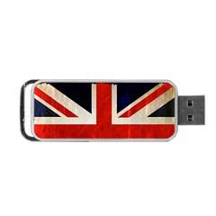 Flag Of Britain Grunge Union Jack Flag Background Portable Usb Flash (one Side) by Nexatart
