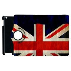 Flag Of Britain Grunge Union Jack Flag Background Apple Ipad 3/4 Flip 360 Case by Nexatart