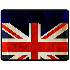 Flag Of Britain Grunge Union Jack Flag Background Double Sided Fleece Blanket (large)  by Nexatart
