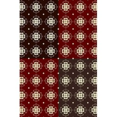 Decorative Pattern With Flowers Digital Computer Graphic 5 5  X 8 5  Notebooks by Nexatart