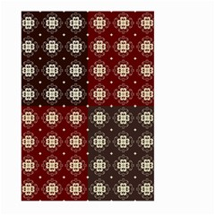 Decorative Pattern With Flowers Digital Computer Graphic Large Garden Flag (two Sides) by Nexatart