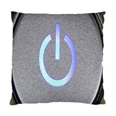 Close Up Of A Power Button Standard Cushion Case (one Side) by Nexatart