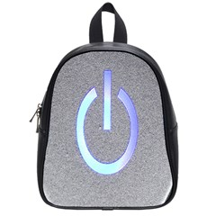 Close Up Of A Power Button School Bags (small)  by Nexatart