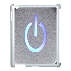 Close Up Of A Power Button Apple Ipad 3/4 Case (white) by Nexatart