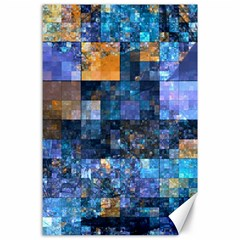 Blue Squares Abstract Background Of Blue And Purple Squares Canvas 24  X 36  by Nexatart