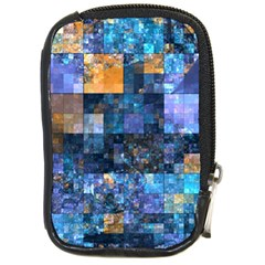 Blue Squares Abstract Background Of Blue And Purple Squares Compact Camera Cases by Nexatart