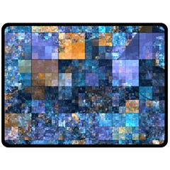 Blue Squares Abstract Background Of Blue And Purple Squares Fleece Blanket (large)  by Nexatart