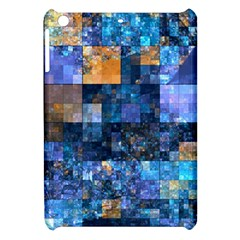 Blue Squares Abstract Background Of Blue And Purple Squares Apple Ipad Mini Hardshell Case by Nexatart