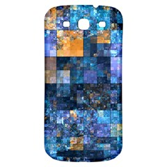 Blue Squares Abstract Background Of Blue And Purple Squares Samsung Galaxy S3 S Iii Classic Hardshell Back Case by Nexatart