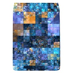 Blue Squares Abstract Background Of Blue And Purple Squares Flap Covers (s)  by Nexatart