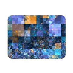 Blue Squares Abstract Background Of Blue And Purple Squares Double Sided Flano Blanket (mini)  by Nexatart