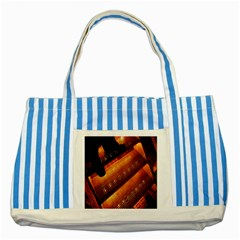 Magic Steps Stair With Light In The Dark Striped Blue Tote Bag by Nexatart
