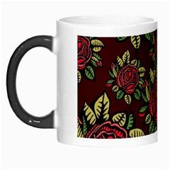 A Red Rose Tiling Pattern Morph Mugs by Nexatart