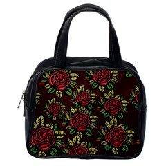 A Red Rose Tiling Pattern Classic Handbags (one Side) by Nexatart