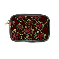 A Red Rose Tiling Pattern Coin Purse by Nexatart