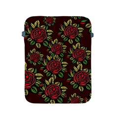 A Red Rose Tiling Pattern Apple Ipad 2/3/4 Protective Soft Cases by Nexatart