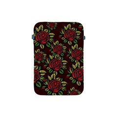 A Red Rose Tiling Pattern Apple Ipad Mini Protective Soft Cases by Nexatart