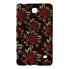 A Red Rose Tiling Pattern Samsung Galaxy Tab 4 (7 ) Hardshell Case  by Nexatart