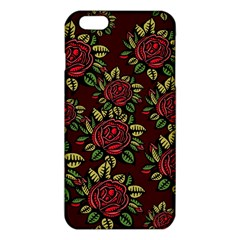 A Red Rose Tiling Pattern Iphone 6 Plus/6s Plus Tpu Case by Nexatart