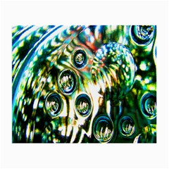 Dark Abstract Bubbles Small Glasses Cloth by Nexatart