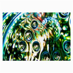 Dark Abstract Bubbles Large Glasses Cloth (2 Side) by Nexatart