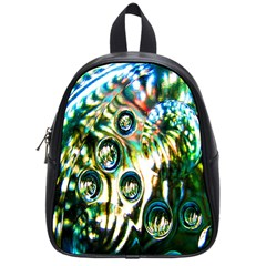 Dark Abstract Bubbles School Bags (small)  by Nexatart