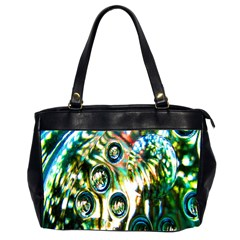 Dark Abstract Bubbles Office Handbags (2 Sides)  by Nexatart