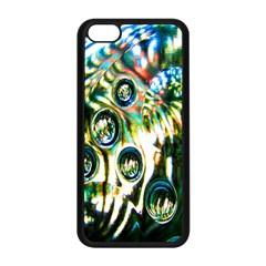 Dark Abstract Bubbles Apple Iphone 5c Seamless Case (black) by Nexatart